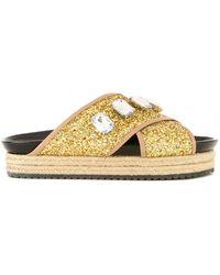 MUVEIL - Embellished Platform Sandals - Lyst