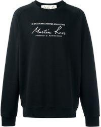Martine Rose 'classic Logo' Sweatshirt - Black