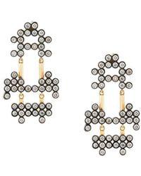Yannis Sergakis | 18kt Charnières Diamond Drop Earrings | Lyst