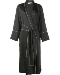 Balenciaga - Contrast Piped Robe Jacket - Women - Acetate/viscose - 36 - Black