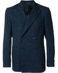 Tonello Lamé double-breasted blazer - Bleu