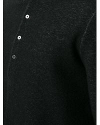 Ma+ - Button Collar Jumper - Lyst