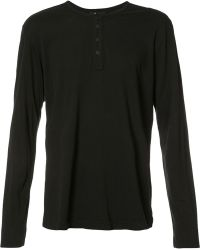 PAIGE - Half Button T-shirt - Lyst