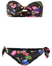 Isolda Printed Bikini Set - Black
