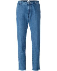 P.A.R.O.S.H. - Tapered Leg Jeans - Women - Cotton - Xs - Blue
