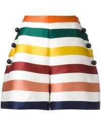 Carolina Herrera - Striped Shorts - Lyst