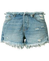 NSF - Denim Shorts - Lyst