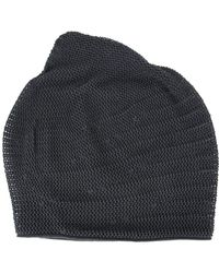 DEVOA - Perforated Detail Beanie - Lyst