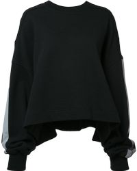 Vera Wang - Cropped Sweatshirt - Lyst