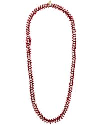 Forte Forte - Frayed Beaded Necklace - Lyst
