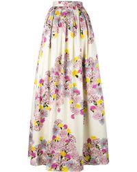 Daniele Carlotta - Floral Print Maxi Skirt - Lyst