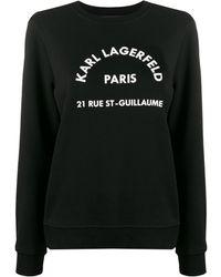 Karl Lagerfeld アドレスロゴ スウェットシャツ - ブラック