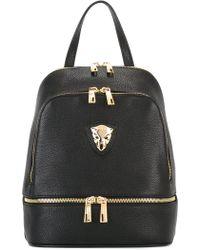 Baldinini - Gold-tone Zips Backpack - Lyst