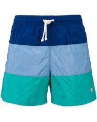 Maison Kitsuné - Colour-block Swim Shorts - Lyst