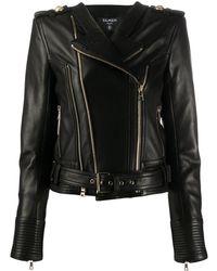 Balmain Куртка С Молниями - Черный