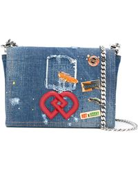 DSquared² Dd Crossbody Denim Bag - Blue