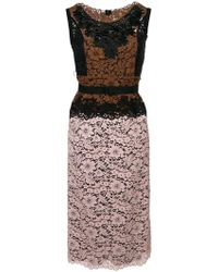 Antonio Marras - Contrasting Lace Panel Dress - Lyst
