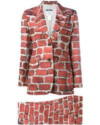 Moschino - Brick Print Trouser Suit - Lyst