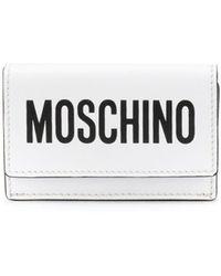 Moschino Mini portefeuille à logo - Blanc
