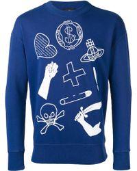 Vivienne Westwood Anglomania - Icon Print Sweatshirt - Lyst