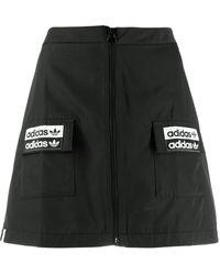 adidas ロゴ ミニスカート - ブラック