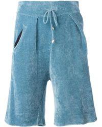 Laneus - Ribbed Bermuda Shorts - Lyst