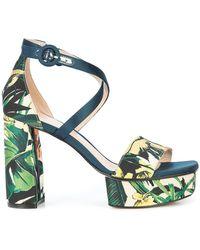 Stuart Weitzman - Clara Floral Printed Sandals - Lyst