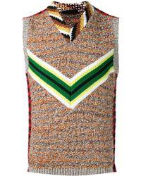 Prada - Intarsia Knit Pullover - Men - Virgin Wool - 44 - Brown