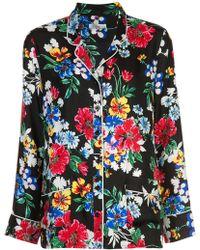 Piamita - Floral-print Pyjama Shirt - Lyst