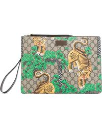 Gucci - Bengal Tiger Print Pouch - Lyst