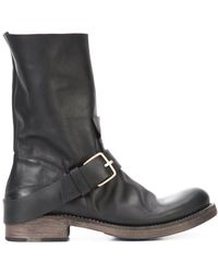 Ma+ - Buckled Detail Slip-on Boots - Lyst