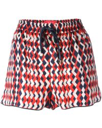 F.R.S For Restless Sleepers - Geometric Print Shorts - Lyst