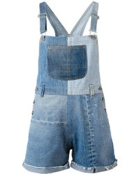 RE/DONE - Patchwork Dungarees - Lyst