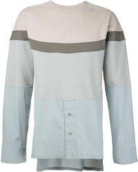 General Idea - Colour Block Shirt Panel Sweatshirt - Lyst