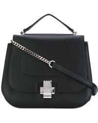 N°21 Satchel Shoulder Bag - Black