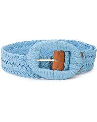Altuzarra Braided Buckle Belt - Blue