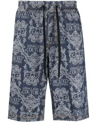 Versace Jeans Couture Шорты С Принтом - Синий
