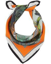 Burberry Monkey Print square scarf - Blanco