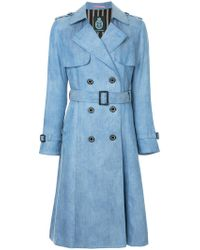 Guild Prime - Denim Trench Coat - Lyst