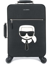 Karl Lagerfeld K/ikonik Koffer Met Logo - Zwart