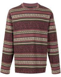 Stussy Sumatra パターン ロングtシャツ - レッド