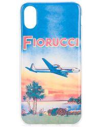 Fiorucci Sunset Iphone X/xs Case - Blue