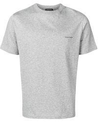 Balenciaga T-shirt Met Logoprint - Grijs
