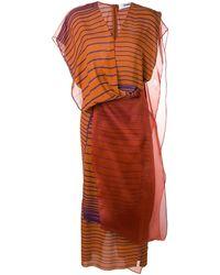 Chalayan Vestito a righe - Multicolore