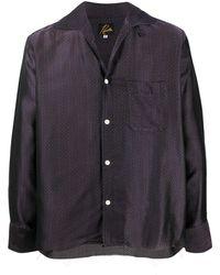 Needles ジグザグプリント シャツ - ブラック
