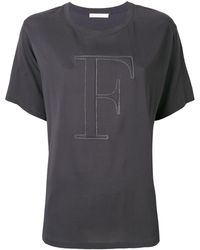 Fabiana Filippi Футболка С Декорированным Логотипом - Серый