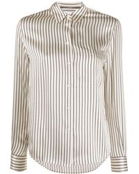 Calvin Klein Рубашка Узкого Кроя В Полоску - Многоцветный