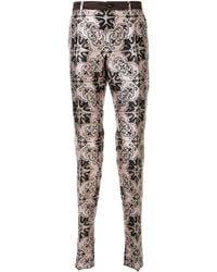 Dolce & Gabbana Pantalon imprimé Maiolica - Rose