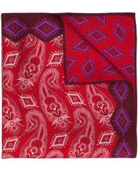 Etro Pañuelo de bolsillo estampado - Rojo