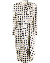 Hermès Платье Balle De Gold 1990-х Годов - Синий